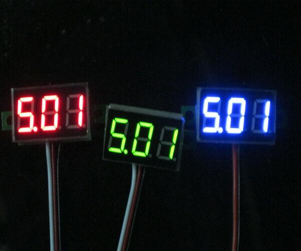 Mini DC 0-32V LED Panel Voltage Meter 3-Digital LED Display Voltmeter Motorcycle
