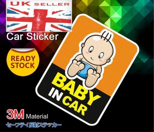 Baby on Board in Van Windscreen Body Panel Bumper Car Sign Transfer Sticker