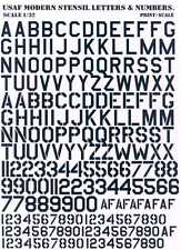 Print Scale Decals USAF Letters Numbers White EBay - Decal numbers lettersusaf modern stencil lettersnumbers whitedecal