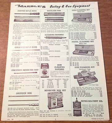 Gladstone MI 10pp Ad Flyer Catalog /& Sight Chart Vtg 1959 Marble Arms Co