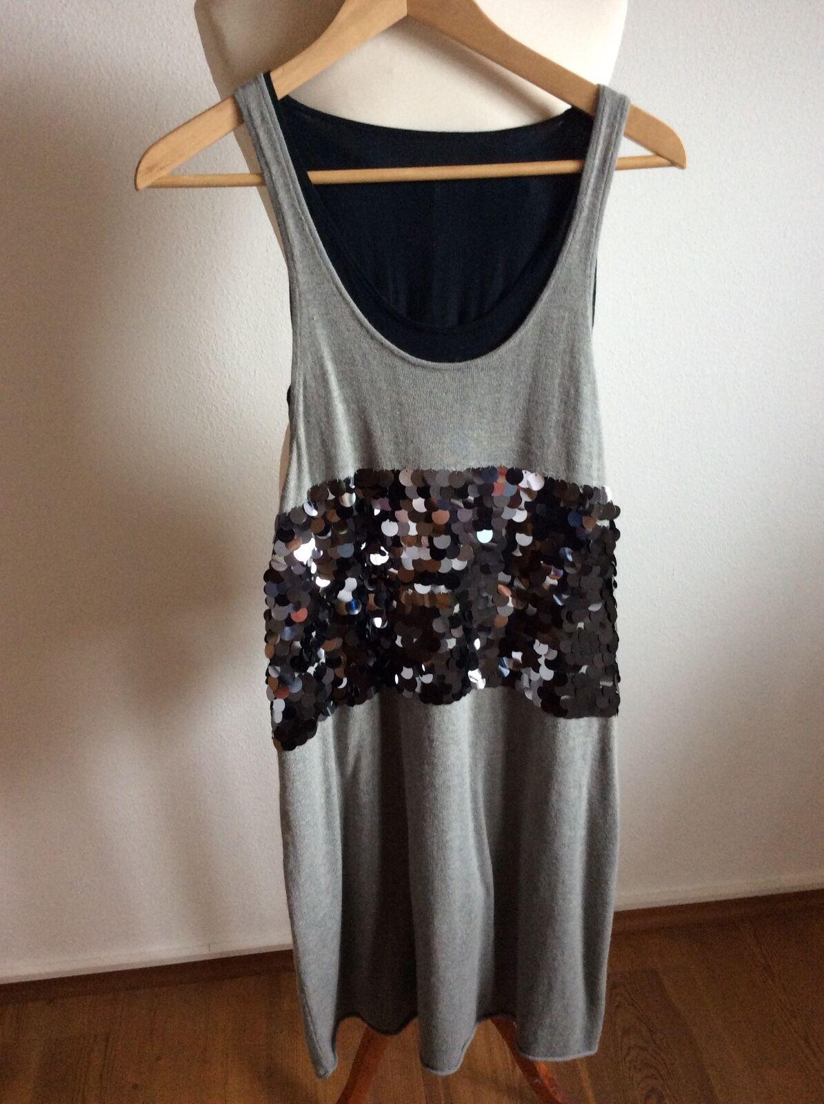 TWIN -SET Damenkleid  S grau-schwarz