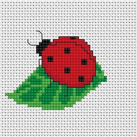 S Ladybird My First Embroidery Counted Cross Stitch kit by Luca