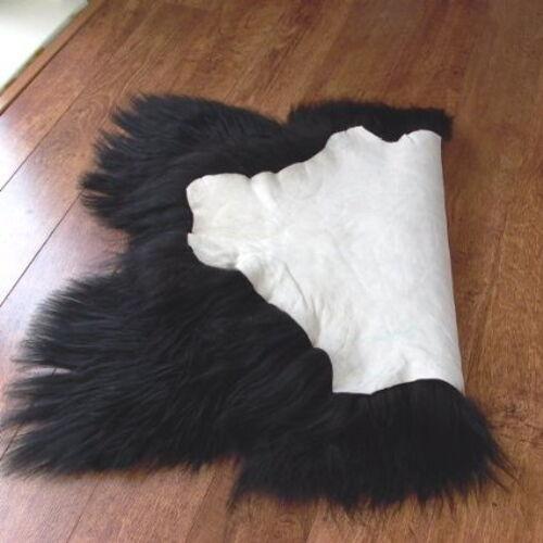 Black Icelandic Sheepskin Rug Single Sheepskin XXL Extra Long /& Soft Wool
