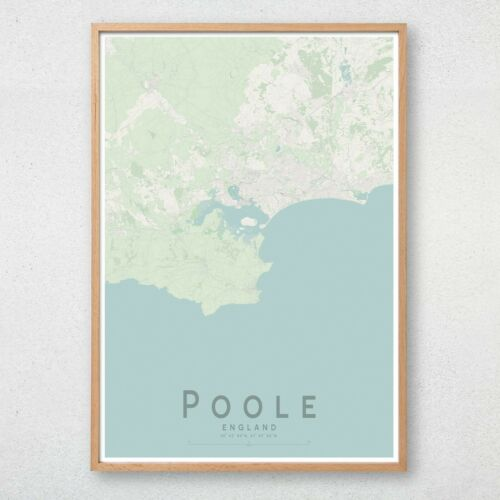 POOLE Map Print Dorset England Wall Art Poster City Map Wall Decor A3 A2 A1