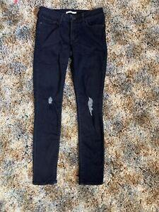 Nuevo Sin Etiquetas Para Mujer Skinny Jeans Levis 711 Azul Indigo Oscuro Talla 28 Ebay
