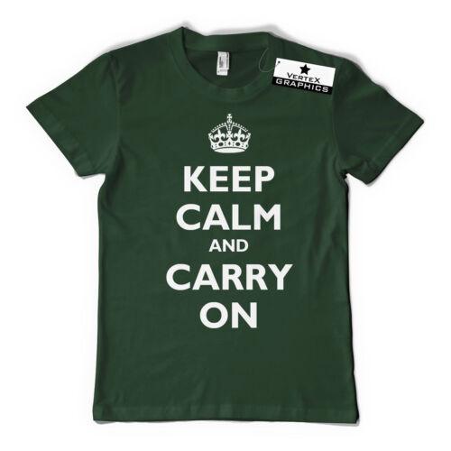 Keep Calm and Carry on T-Shirtdrôle cadeau Slogan
