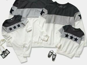 Family Matching Clothes Hoodies Look Mother Daughter Son Dad Colors Star Outfit