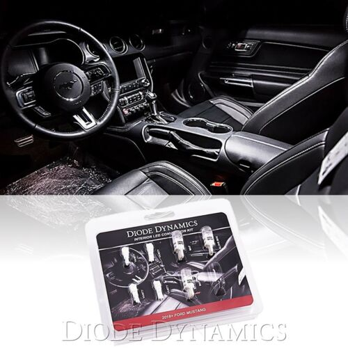 18-19 Ford Mustang Interior LED Glove Box Map Light Conversion Stage 2 White Kit