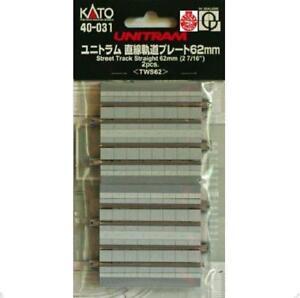 Kato-40-031-UniTram-Rail-Droit-Straight-Track-62mm-2pcs-N