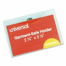 Universal Clear Badge Holders Withinserts White 50 Badge Kit Unv56003