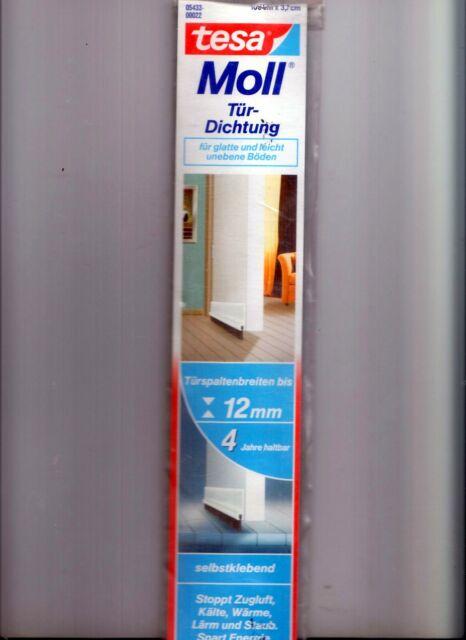 tesamoll® 05433 Standard Türdichtschiene für glatte Böden Tür Isolierung