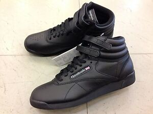 SHOES-SCARPE-DONNA-PALESTRA-PELLE-WOMEN-REEBOK-FREESTYLE-HIGH-LEATHER-2240-BLACK
