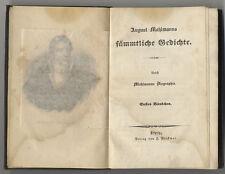 Mahlmann: August Mahlmanns sämmtliche Gedichte. - Leipzig, Volckmar, vor 1850
