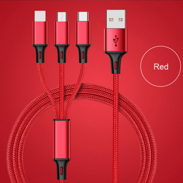 Hai-ky-uu Frends Universal Multifunction Cable Fit USB Charger 3 in 1 Charging Cable Adapter