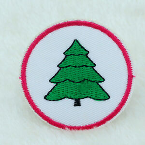 eabb0001d98f2 2X Christmas tree Embroidery Applique Iron On/Sew On Patch Cartoon ...