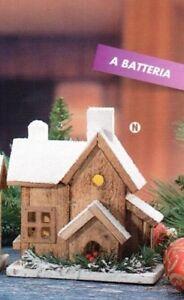 Decorazioni natalizie casa casetta con luce a led per for Luce a led per casa