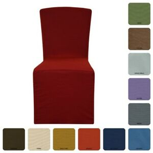 2-COPRISEDIA-vesti-sedia-2-pezzi-TINTA-UNITA-millerighe-rivestisedia-fantasmino