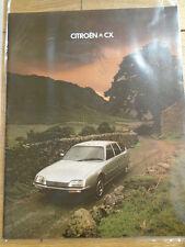 Citroen CX range brochure Sep 1978