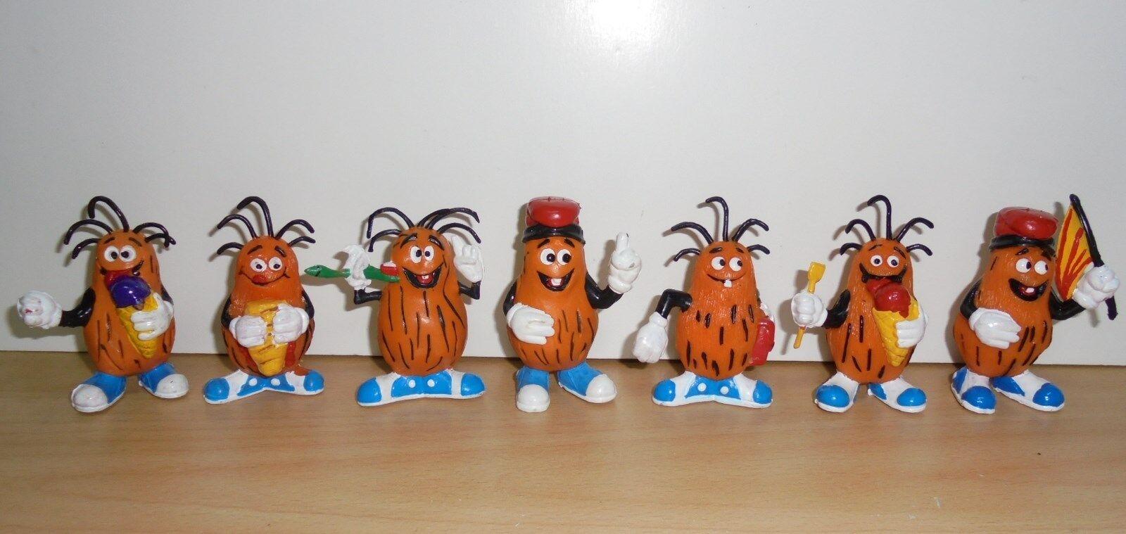 VINTAGE Complete Set 7 x toy PVC figurine figure CASIMIRO - Captain Caveman