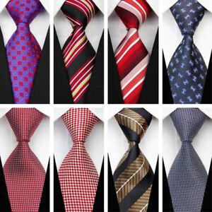 c54541018e68 Red Blue Plaid Stripe Necktie Business Men Casual Classic Wedding ...