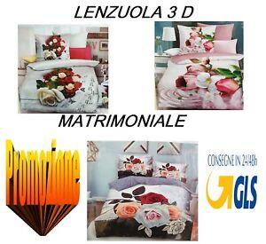 Completo Letto Matrimoniale 3d.Completo Letto Matrimoniale Microfibra 3d Lenzuola Sopra Sotto