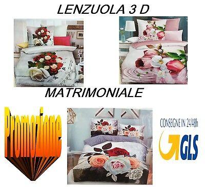 Lenzuola Microfibra Matrimoniali.Completo Letto Matrimoniale Microfibra 3d Lenzuola Sopra Sotto