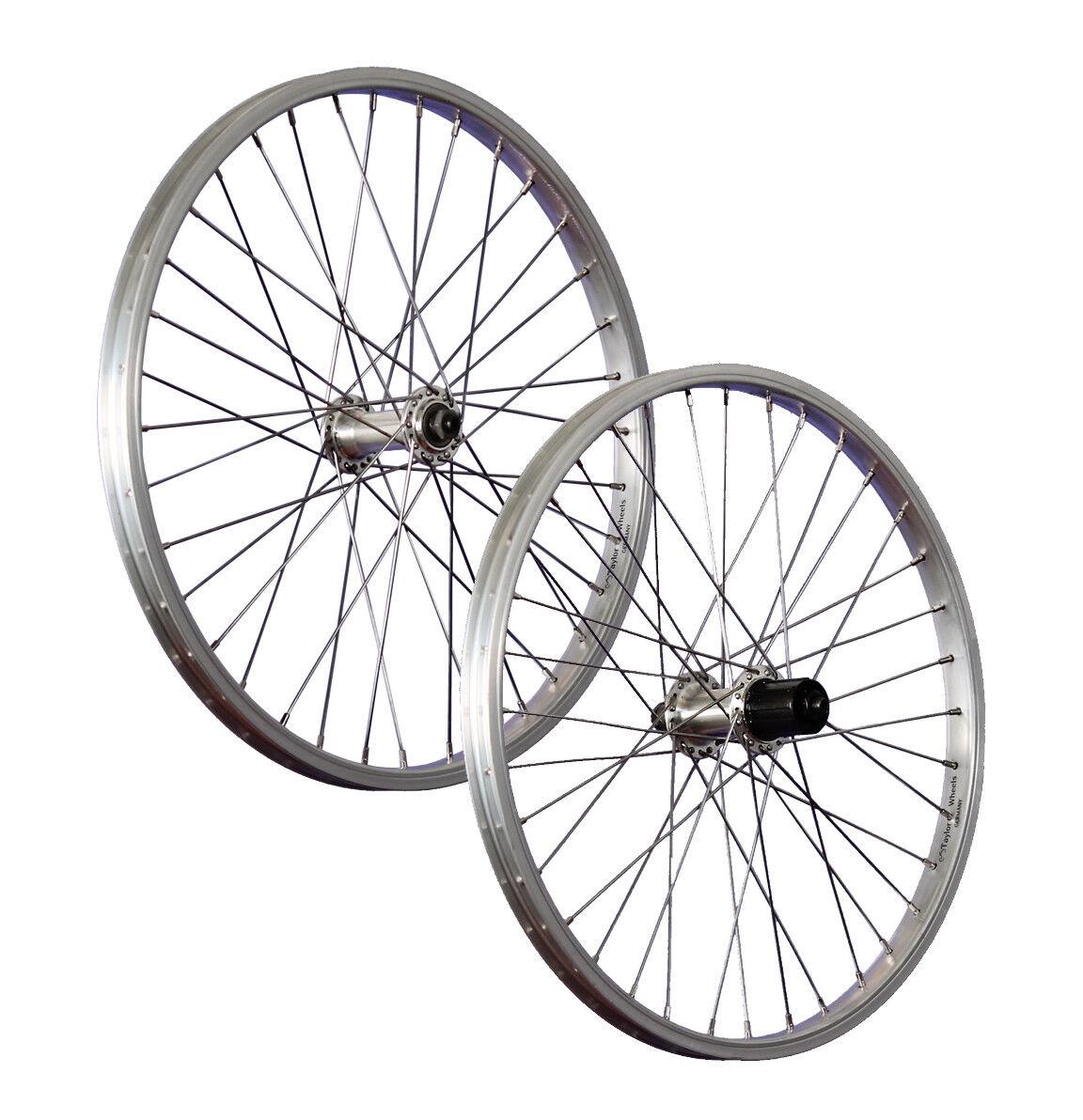 Taylor Wheels 20 Zoll Laufradsatz B 65533; (hell) 6553333; chel Aluminiumfelge Shimano TX500 7-8 fakh