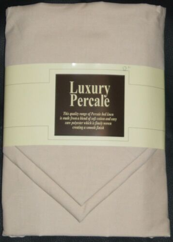 "NEW EXTRA DEEP 15/"" DOUBLE  SIZE FITTED SHEET 2 FREE PILLOWCASE BEIGE"