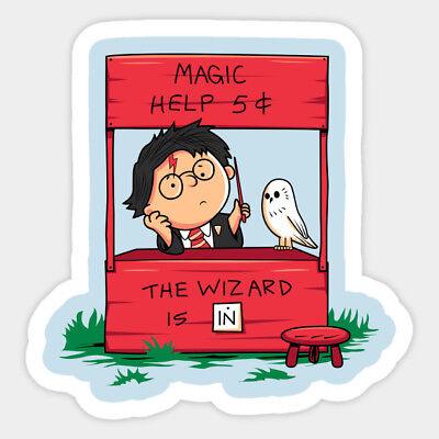 Wizard Vinyl Sticker Harry Potter Inspired Car Bumper Window Glass Wall Decal