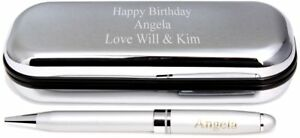 Free P/&P Personalised Engraved Pen With Boxed
