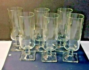 Crystal-Stemware-CHAMPAGNE-FLUTE-with-Square-Base-set-of-6