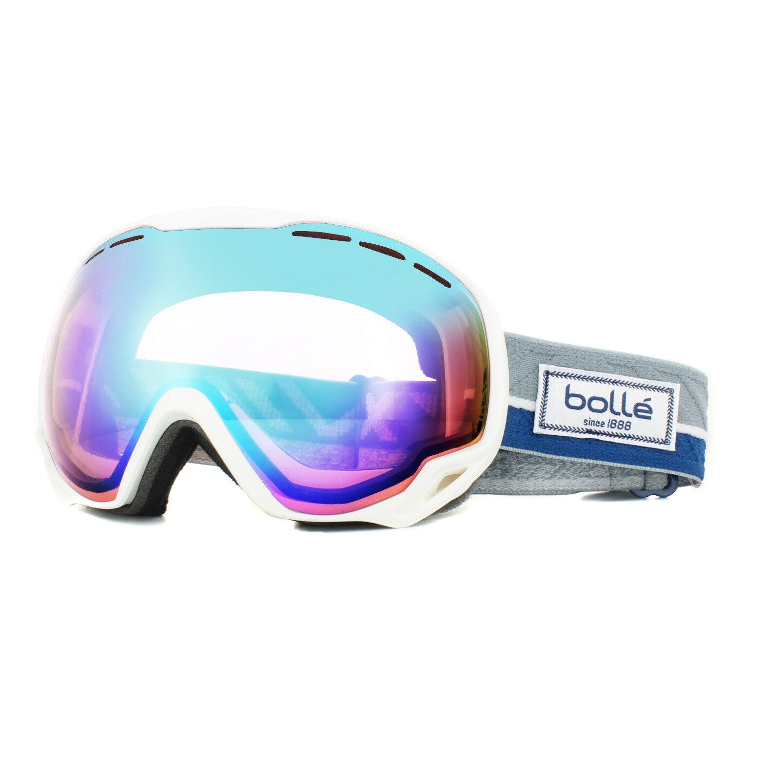 Bolle Ski Goggles Emperor 21450 White & bluee Etnic Aurora