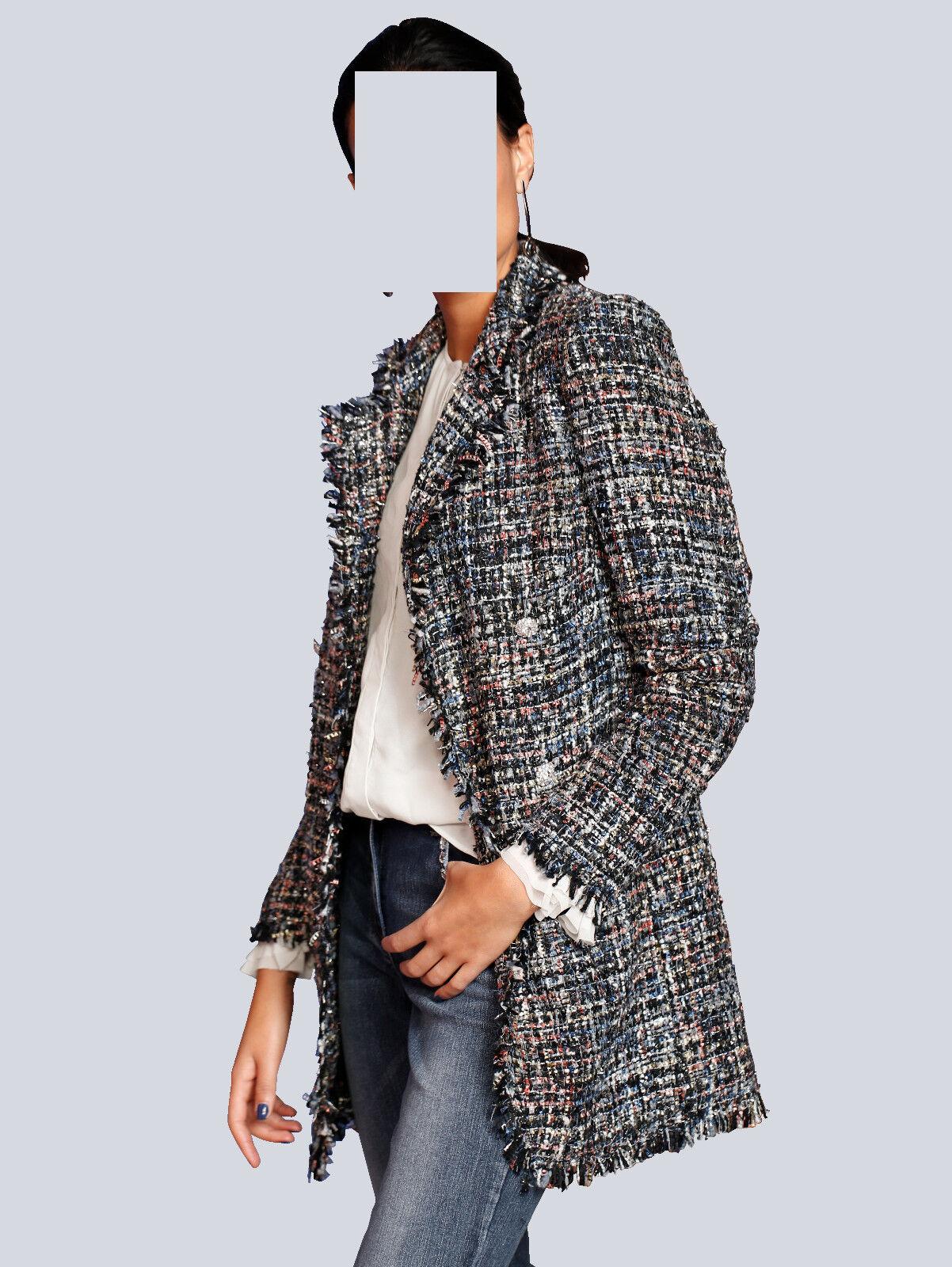 Marques court hommeteau avec franges arêtes marine-noir-rose Taille 42 121848784 9