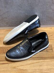 Jimmy Choo Grove Croc Leather Shoes