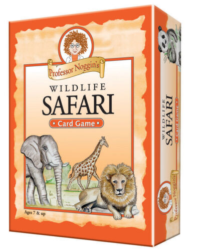 PROFESSOR NOGGIN/'S WILDLIFE SAFARI KIDS FUN EDUCATIONAL CARD GAME OUTSET MEDIA