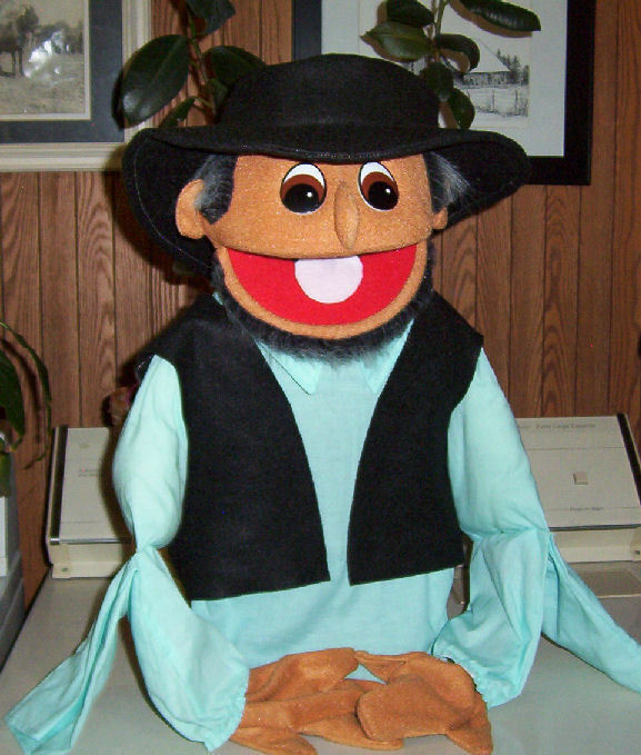 Amish Old Man Farmer Western Prospector Human Arm Style Puppet for Ministry
