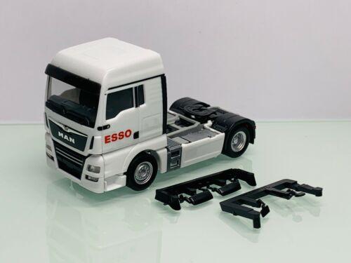 Herpa Esso MAN TGX XL SZM 2-achs weiß ohne OVP