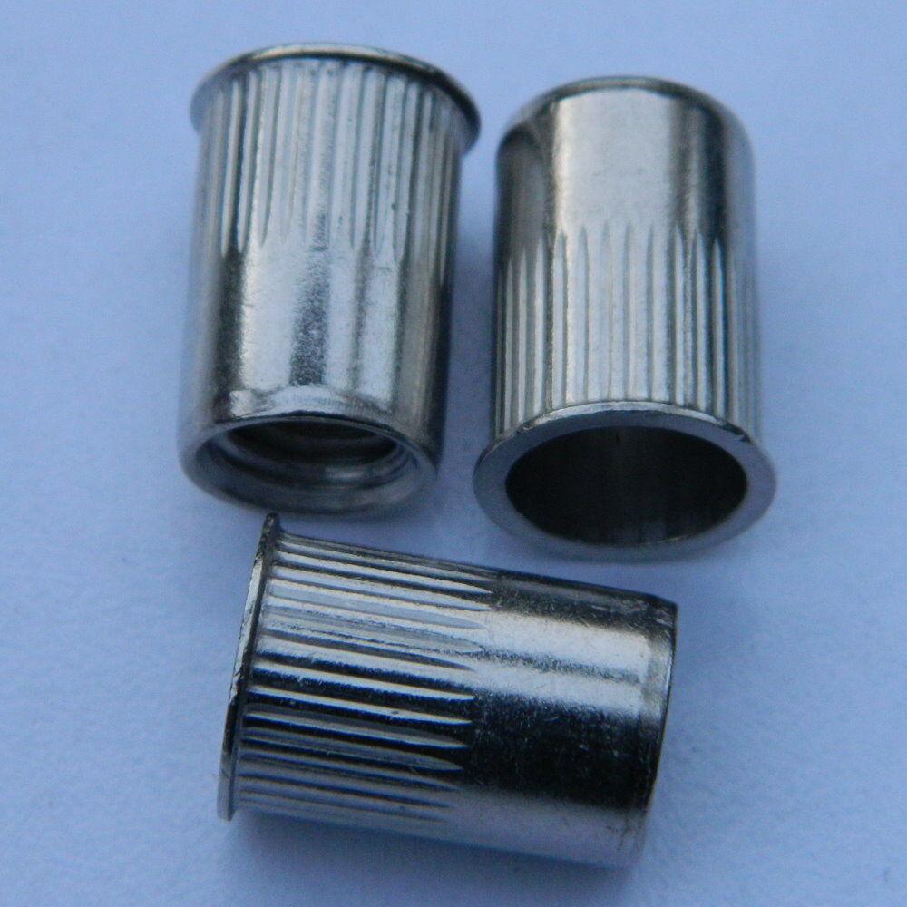 250 Stk. Edelstahl A2 Blindnietmuttern M4 kl. Senkkopf ger. 0,5-2,0mm Nietmutter