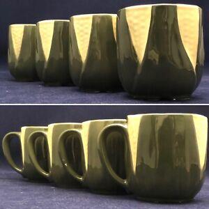 Shawnee Corn King 4 Piece Coffee Mug Set Mold 69 USA