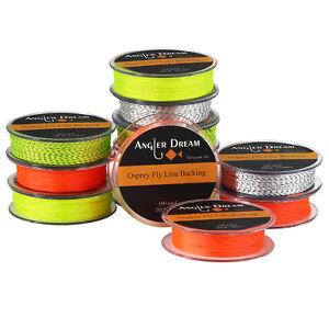 20//30LB Line Backing White Orange Yellow Braided Fly Fishing Trout Line /& LoJB