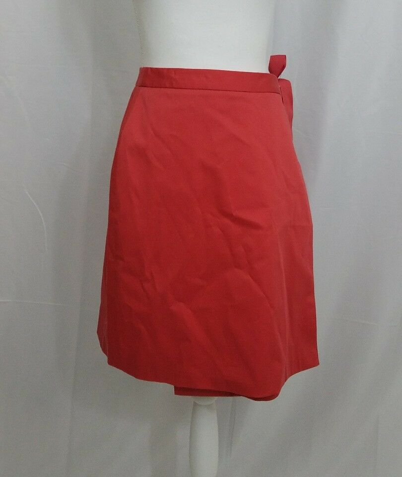 Brooks Bredhers Red Wrap Skirt Size 4 New