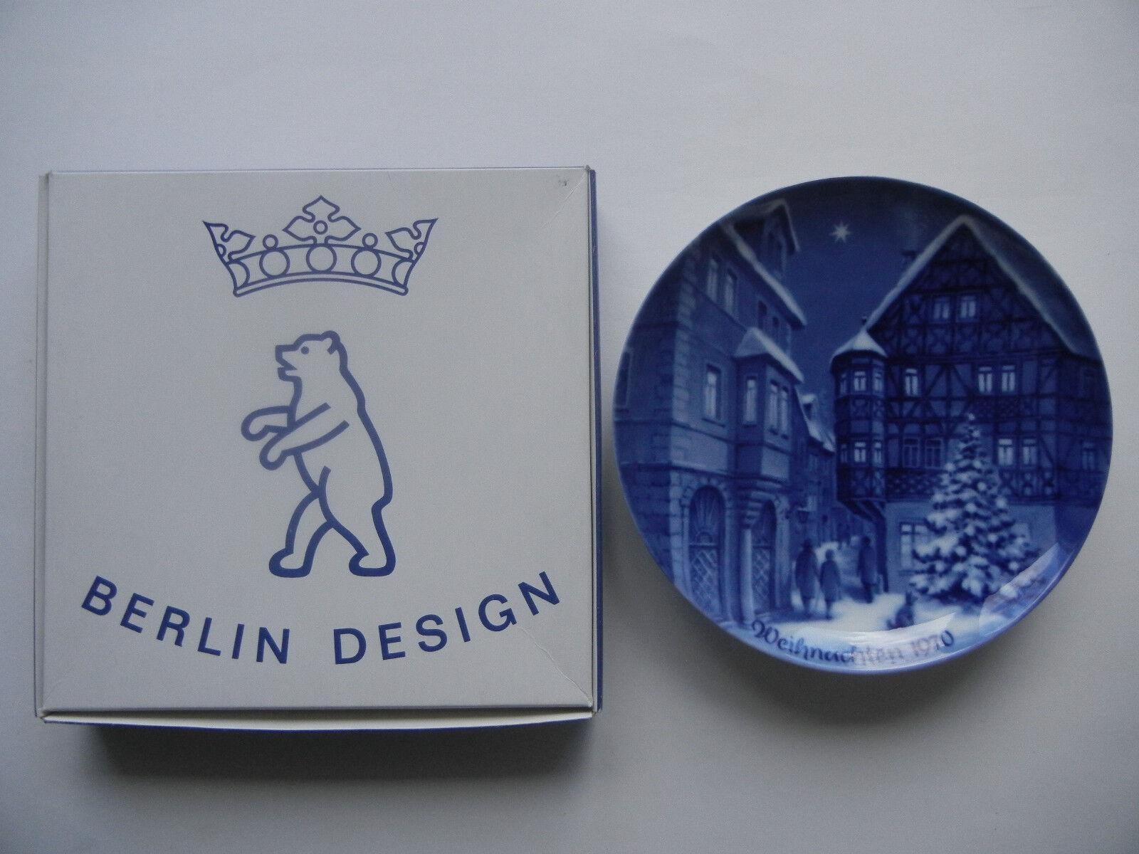 Berlin-Design Weihnachtsteller 1970 Bernkastel - mit OVP (meine Pos. 1970-1)