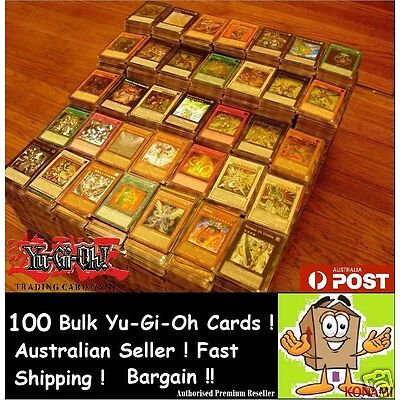YuGiOh!   100x Bulk Cards   [10 HOLOS & RARES] CHEAPEST GENUINE BEST KONAMI PACK