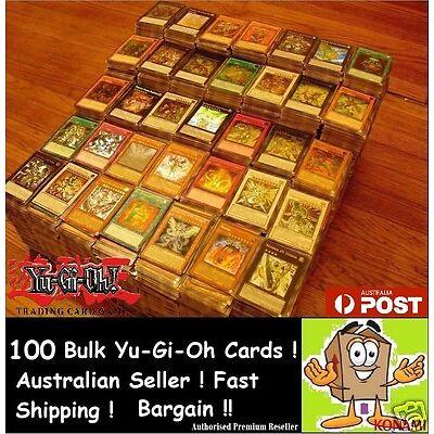 YuGiOh!   100x Bulk Cards   [10 HOLOS & RARES] CHEAPEST GENUINE BEST KONAMI PACK