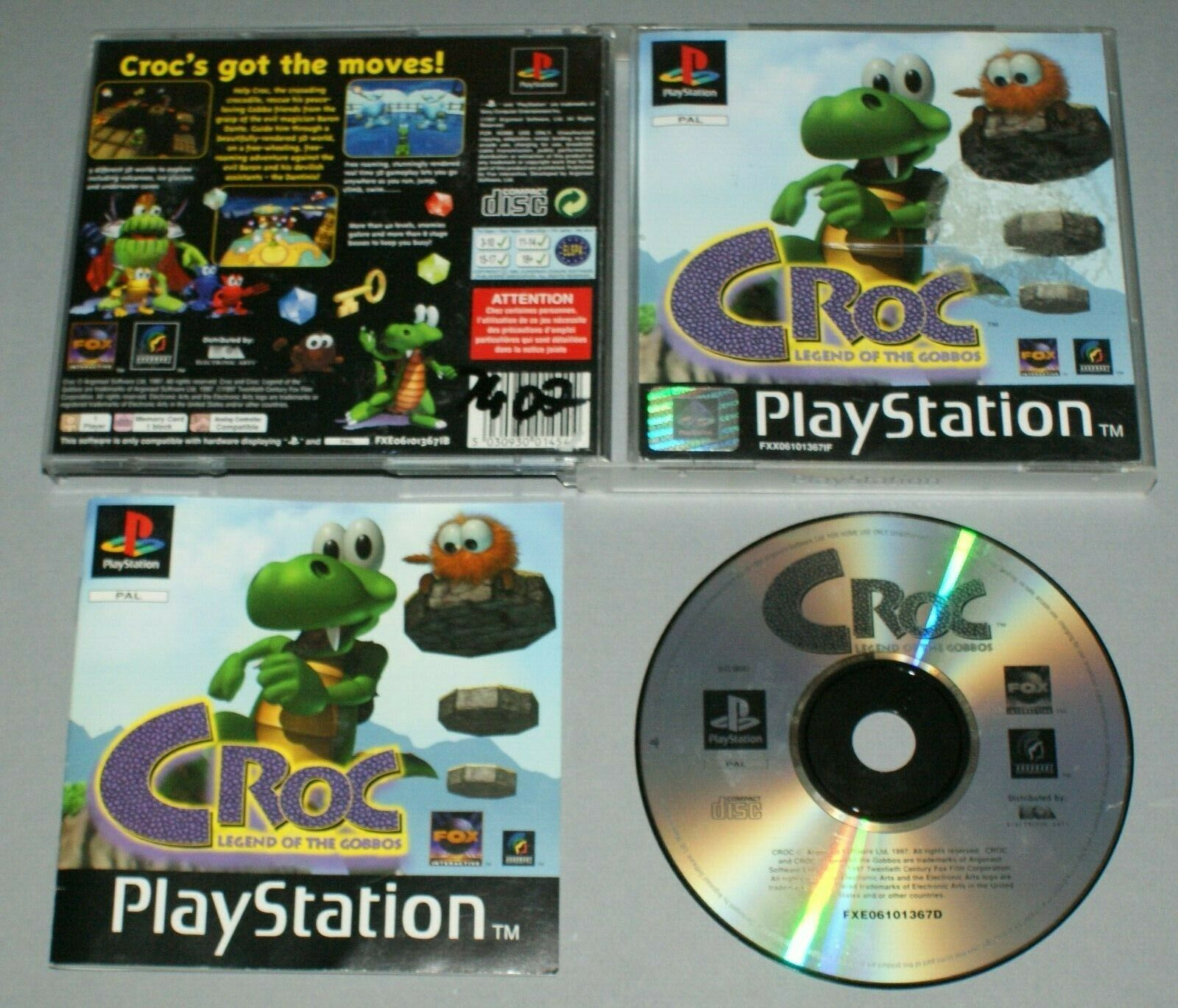 videogiochi e console: Croc Legend of the Gobbos – PS1 Sony Playstation One Game – PAL Complete *