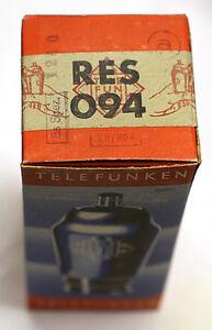 1-Roehre-Telefunken-RES094-Tube-Valve-14-Juni-1940-Elektronenroehre-geprueft-BL334