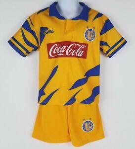 competitive price f331a f57c5 Details about Tigres UANL kid's retro Soccer Jersey Futbol Liga MX Retro  Soccer Uniforms