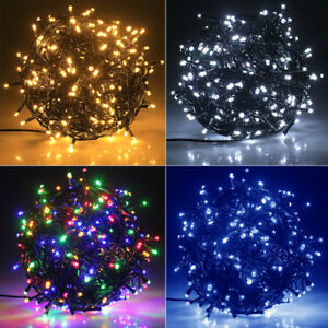Details About 30m 300 Led Green String Outdoor Christmas Tree Fairy Lights Uk Plug With Fuse