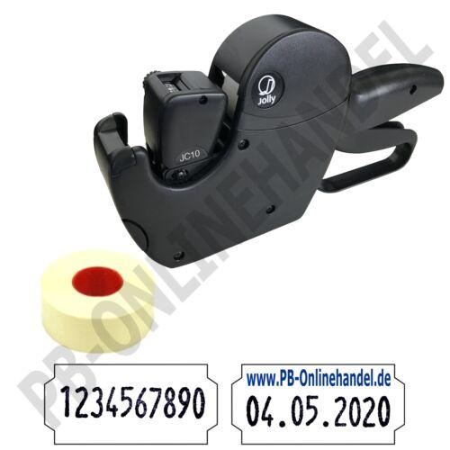 Etiketten 26x12mm Handauszeichner Datum ArtNr Auszeichner JOLLY C10 10-stellig