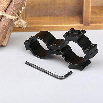25.4mm/30mm Ring 20mm weaver Rail Mount Adapter Rifle Scope Flashlight Bracket
